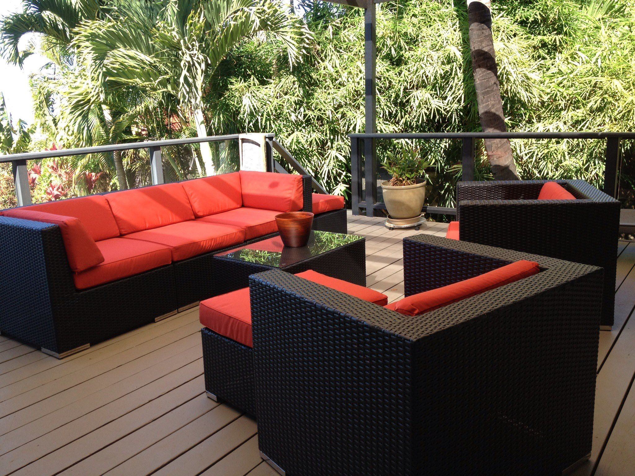 in modern wicker furniture inspirational of ideas patio design review seating ohana set and outdoor deep elegant house