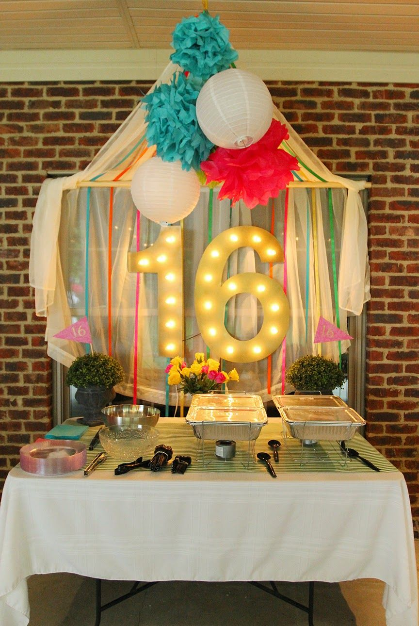 I Love This Backdrop Idea Sweet Sixteen But Would Be So Cute For