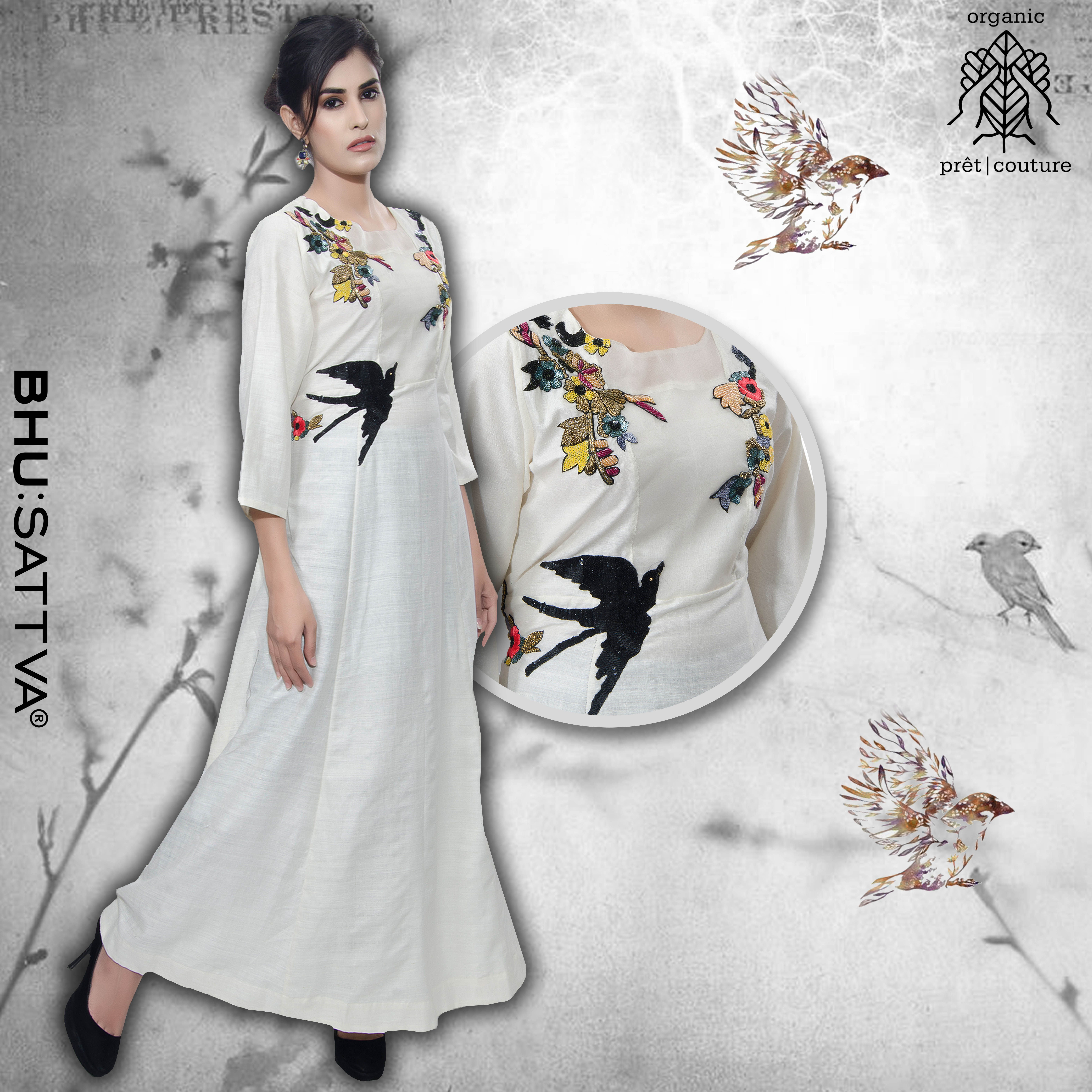 Fashion Is Art And You Are The Canvas. • • • • • #Bhusattva #Organic #Pret #Couture #white dress #HandCrafted#SkinFriendly#BreatheEasy#ReflectOrganic#RevealYourself#iWearBhusattva#BelieveWhatYouWear #TrustNature#ArtInspired#MysticalNature#CloseToNature#OrganicIdeology#OrganicCollection #NaturalDyes#EcoFashion#OrganicFashion#SustainableFashion#GoOrganic#WearOrganic#DesignerLabel#DesignerWear#EcoFriendly#MadeInIndia #MakeInIndia