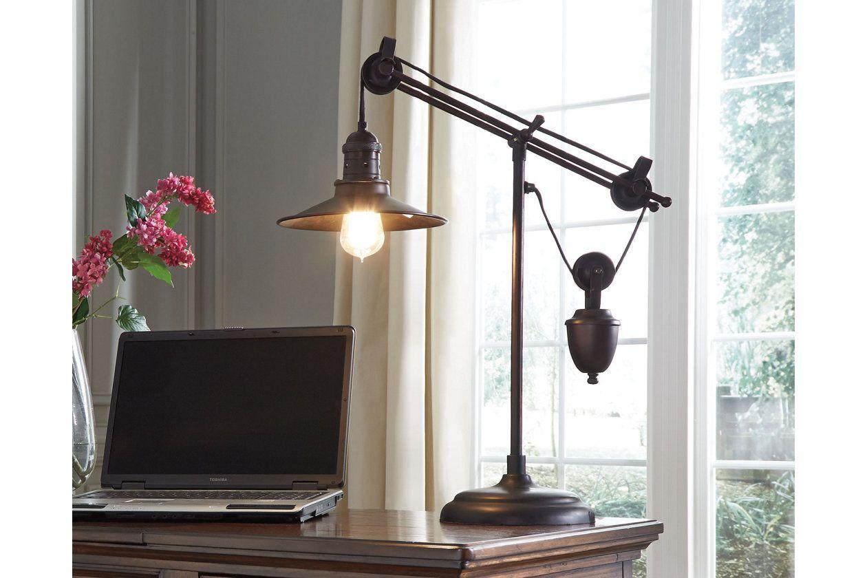 Kylen desk lamp ashley furniture homestore bed in