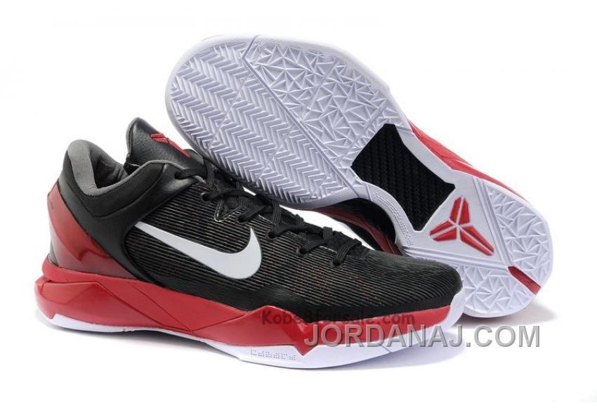 854215570 Nike Zoom Kobe 7 VII System Black White Varsity Red New Arrival