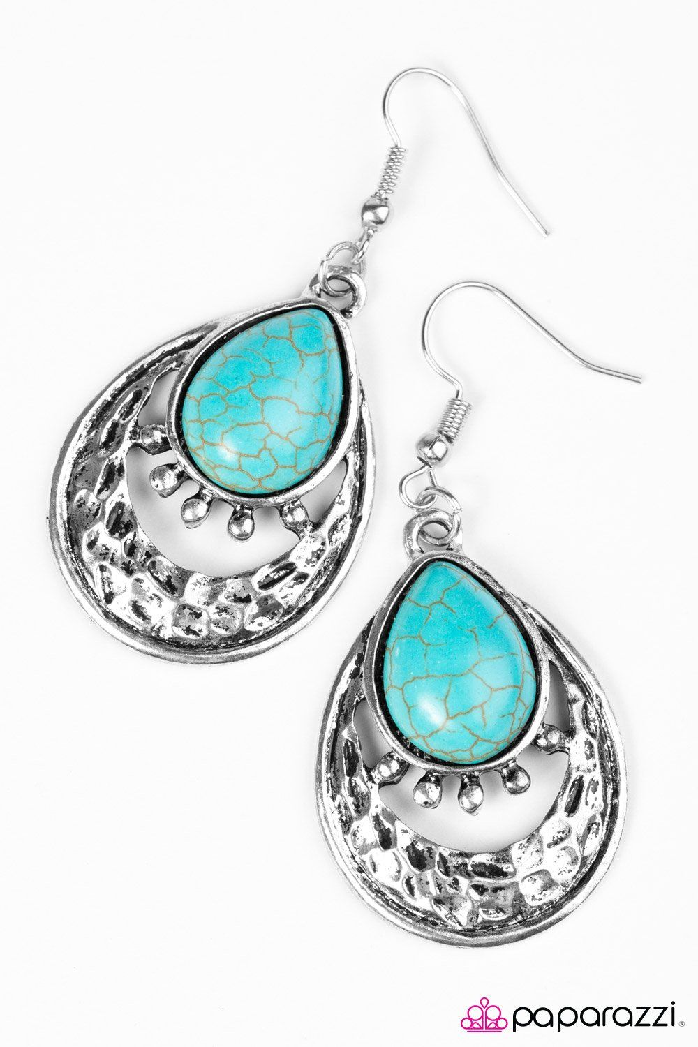 Take Me To The River Earring Blue Lead And Nickel Free Cost 5 00 A Beautiful Turquoise Bead Is Pressed Into Textured Silver Frame For Colorful