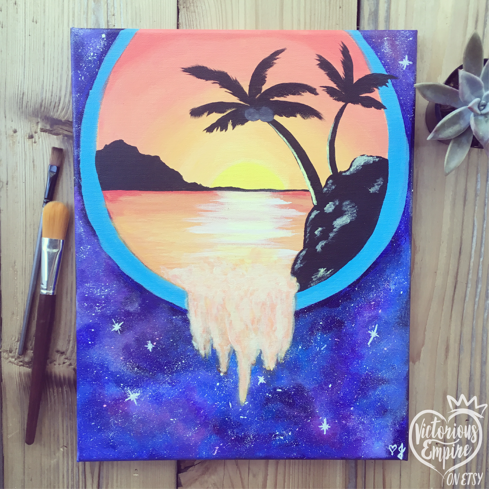 """Celestial Portal"" painting on canvas design credits: Art ...  Celestial"