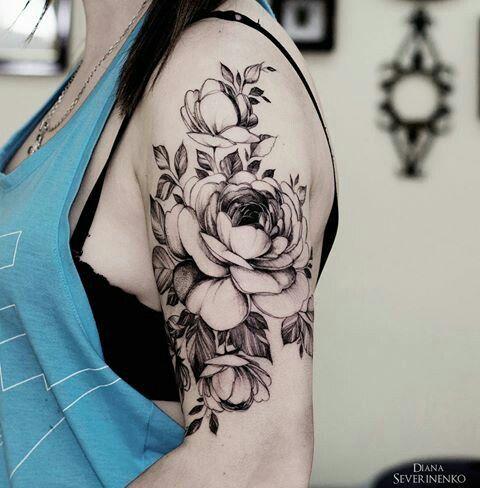 Pivoines Fleurs Tatouage Realiste Ink Inspiration Pinterest