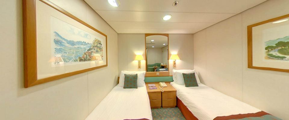 Accommodation On Board Aurora PampO Cruises Bed Rooms