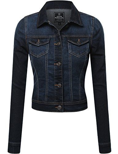 FPT Womens Cropped Denim Jacket (S-3XL) *** Check this awesome ...
