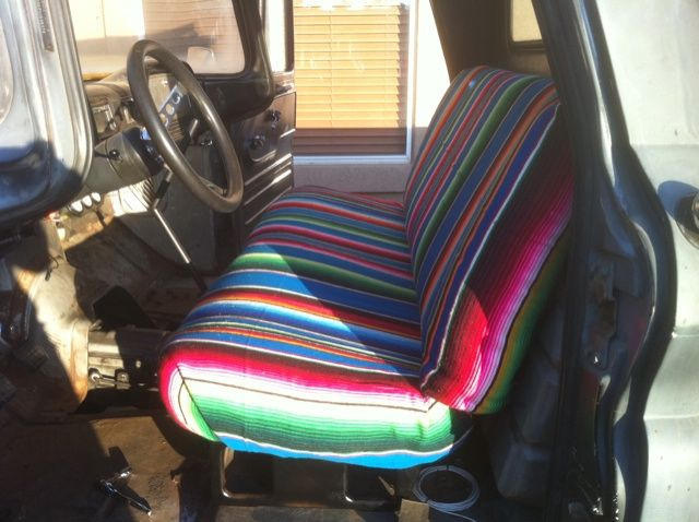 Mexican Blanket Seat Cover Ideas The H A M B Crafty