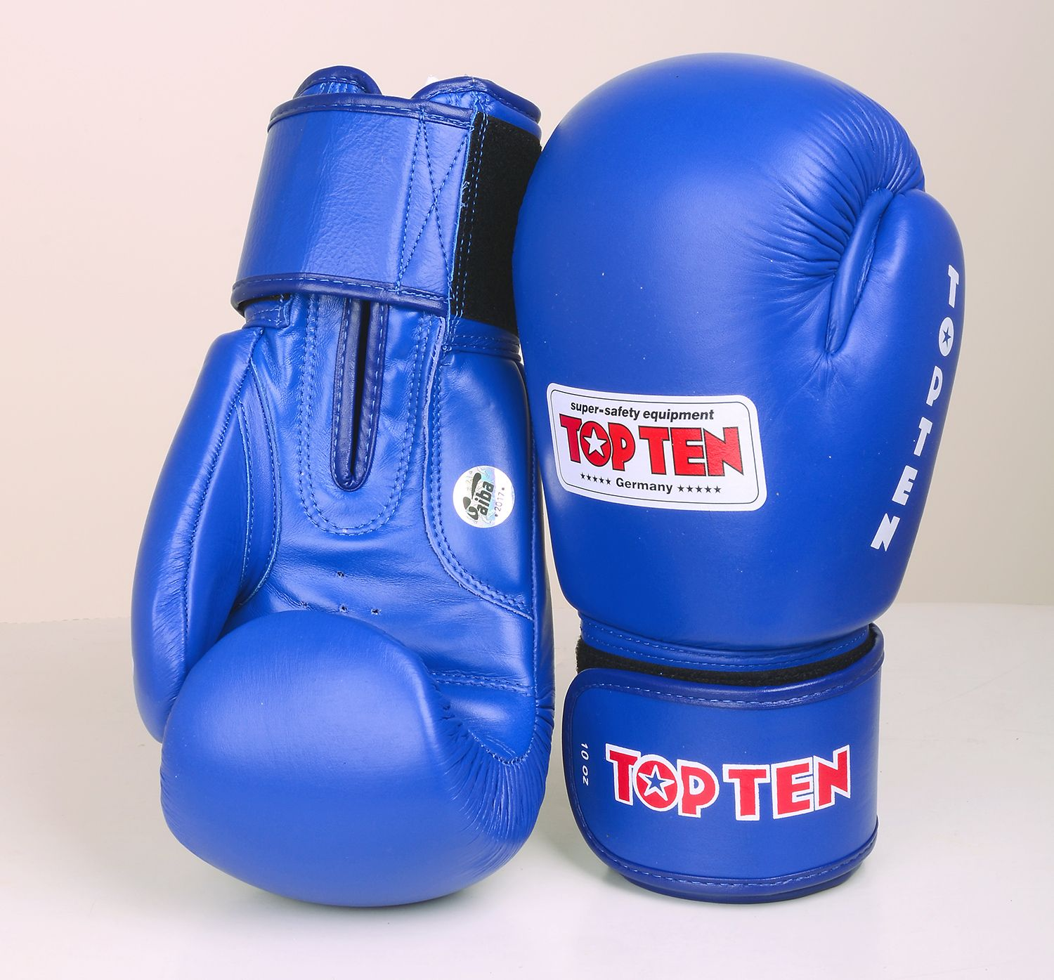 Top Ten Official WAKO Competition Kickboxing Gloves Blue