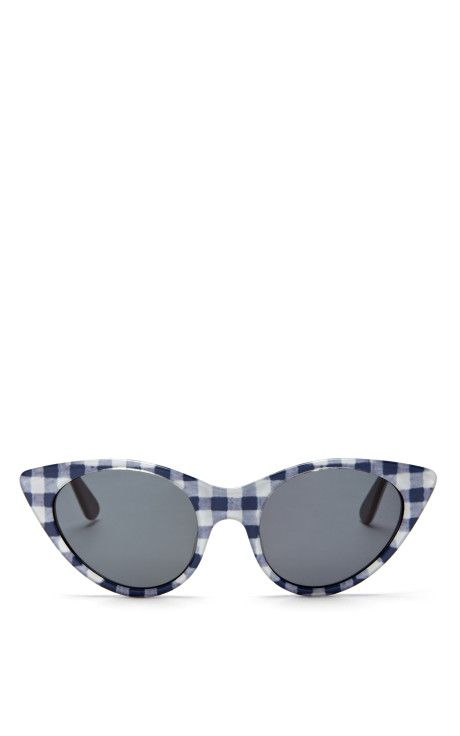 9c528db17d Cat Eye Sunglasses In Navy Gingham by Opening Ceremony Now Available on  Moda Operandi