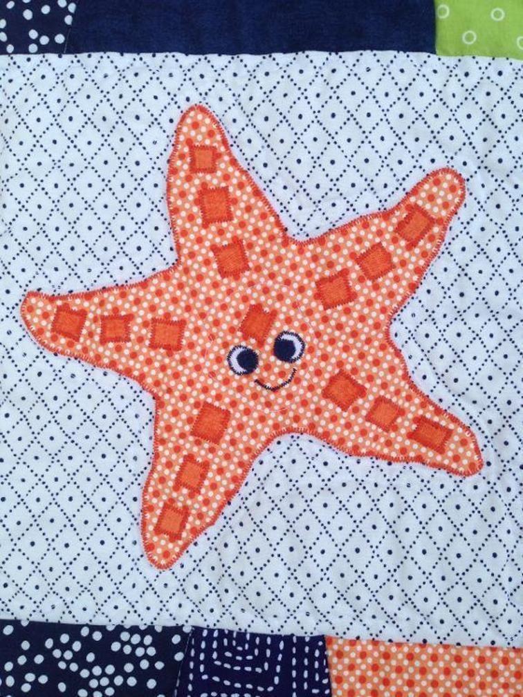 Free Quilt Pattern: Starfish Applique | Free Quilt Patterns | Pinterest