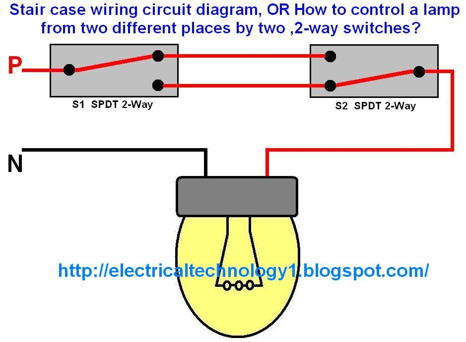 Tremendous Staircase Wiring Circuit Diagram How To Control A Lamp From 2 Wiring Database Wedabyuccorg