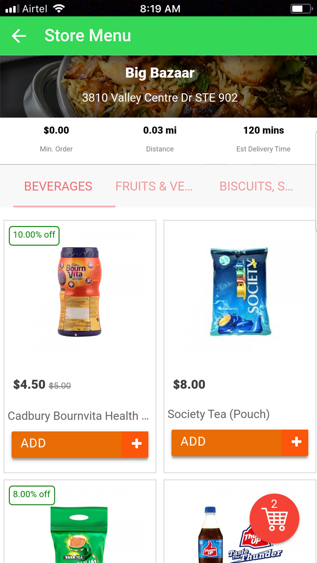 customer app screenshot (With images) Grocery