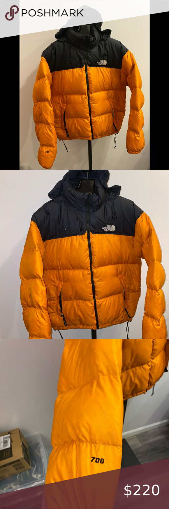 Vintage The North Face 700 Nuptse Mango North Face 700 The North Face Rare Clothing [ 1740 x 580 Pixel ]