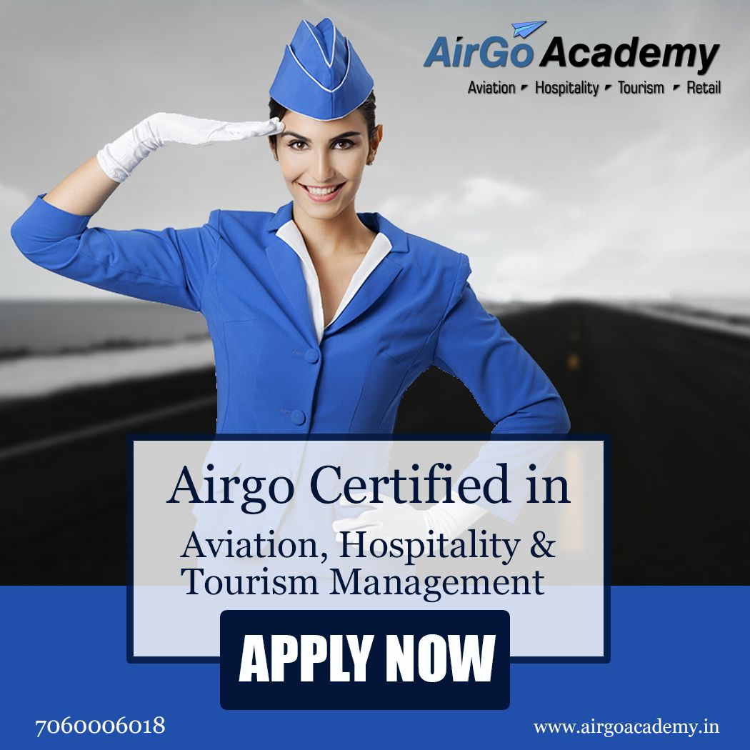 Admission Open in Airgo Certified in Aviation, Hospitality