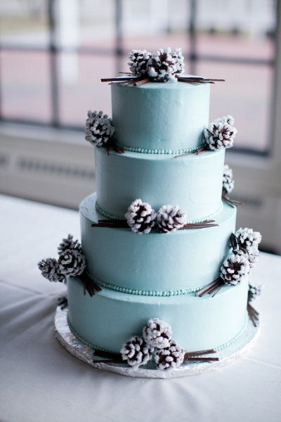 icy blue delicious looking, lush iced pine cones!