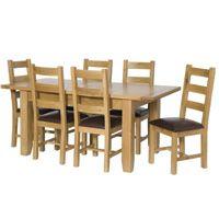 Sensational Oak Dining Table 6 Chairs Canterbury Range Extending Andrewgaddart Wooden Chair Designs For Living Room Andrewgaddartcom