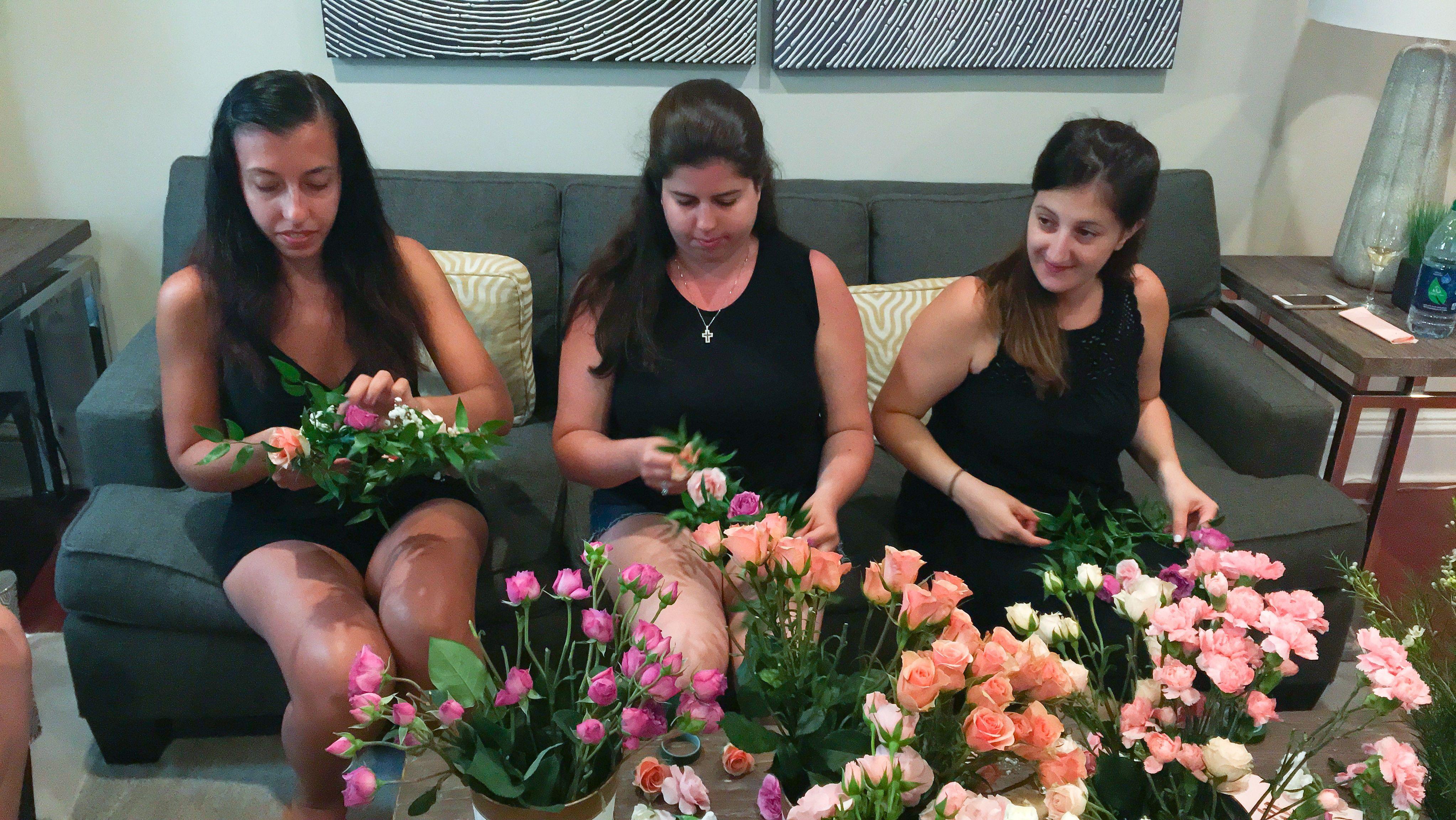 A Greek Goddess Bachelorette Party Bachelorette Flower Parties