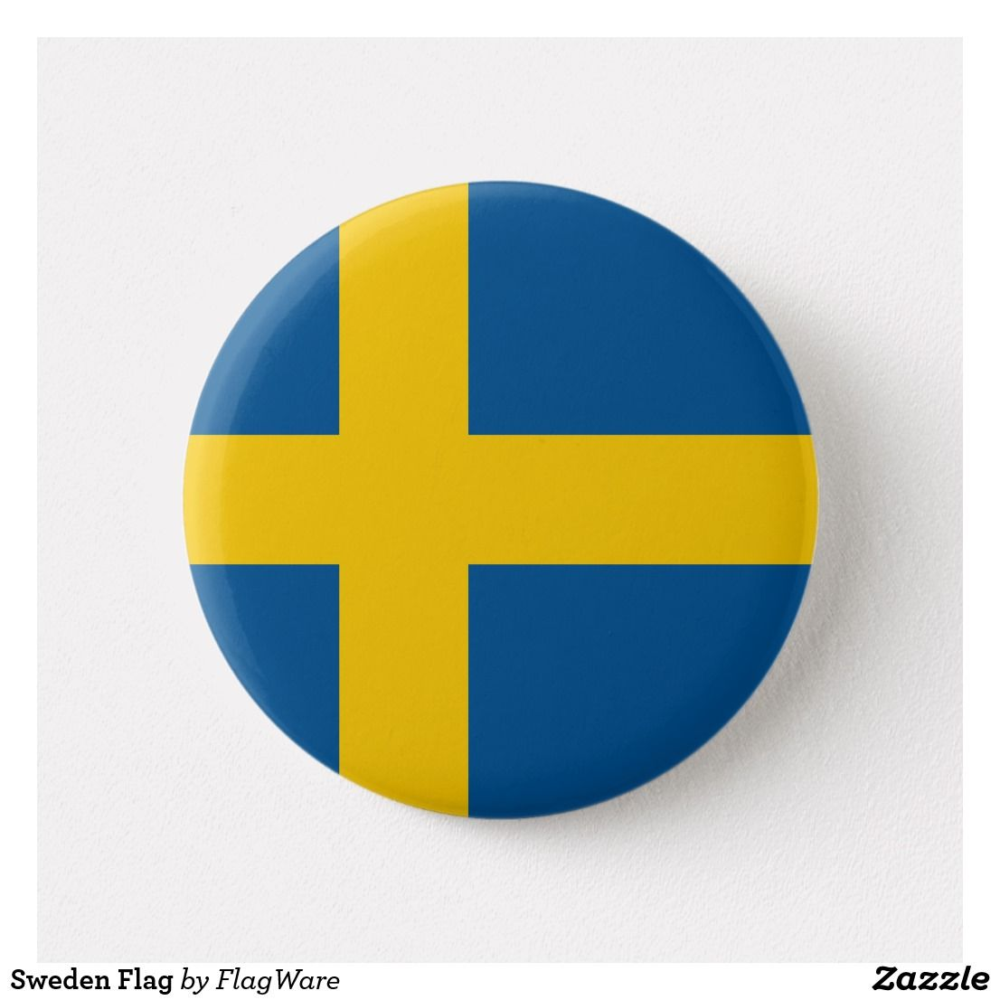 Sweden Flag Button Zazzle Com Sweden Flag Sweden Gift Custom Buttons