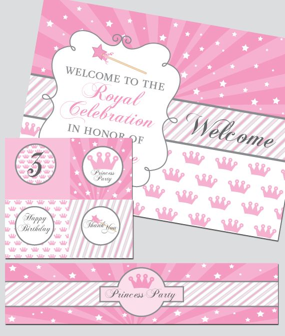 photograph relating to Princess Party Printable called no cost princess occasion printables - ~*~ Princess Get together