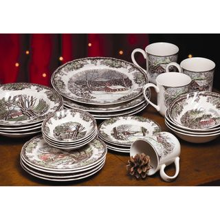 Johnson Brothers Friendly Village 28-Piece Dinnerware Set | Overstock.com Shopping - The Best Deals on Casual Dinnerware  sc 1 st  Pinterest & Johnson Brothers Friendly Village 28-Piece Dinnerware Set ...