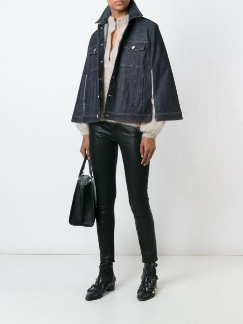 Givenchy chamarra de mezclilla  estilo capa