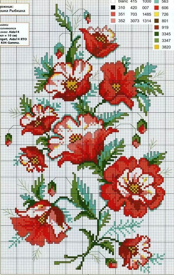 Malva Cross Stitch Pattern Ponto Cruz Natal Ponto Cruz Ponto