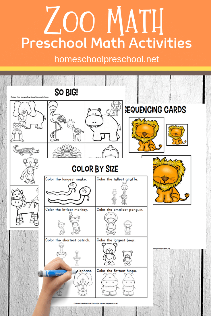 Free Printable Zoo Math Worksheets For Preschoolers Math Activities Preschool Preschool Worksheets Zoo Activities Preschool [ 1102 x 735 Pixel ]