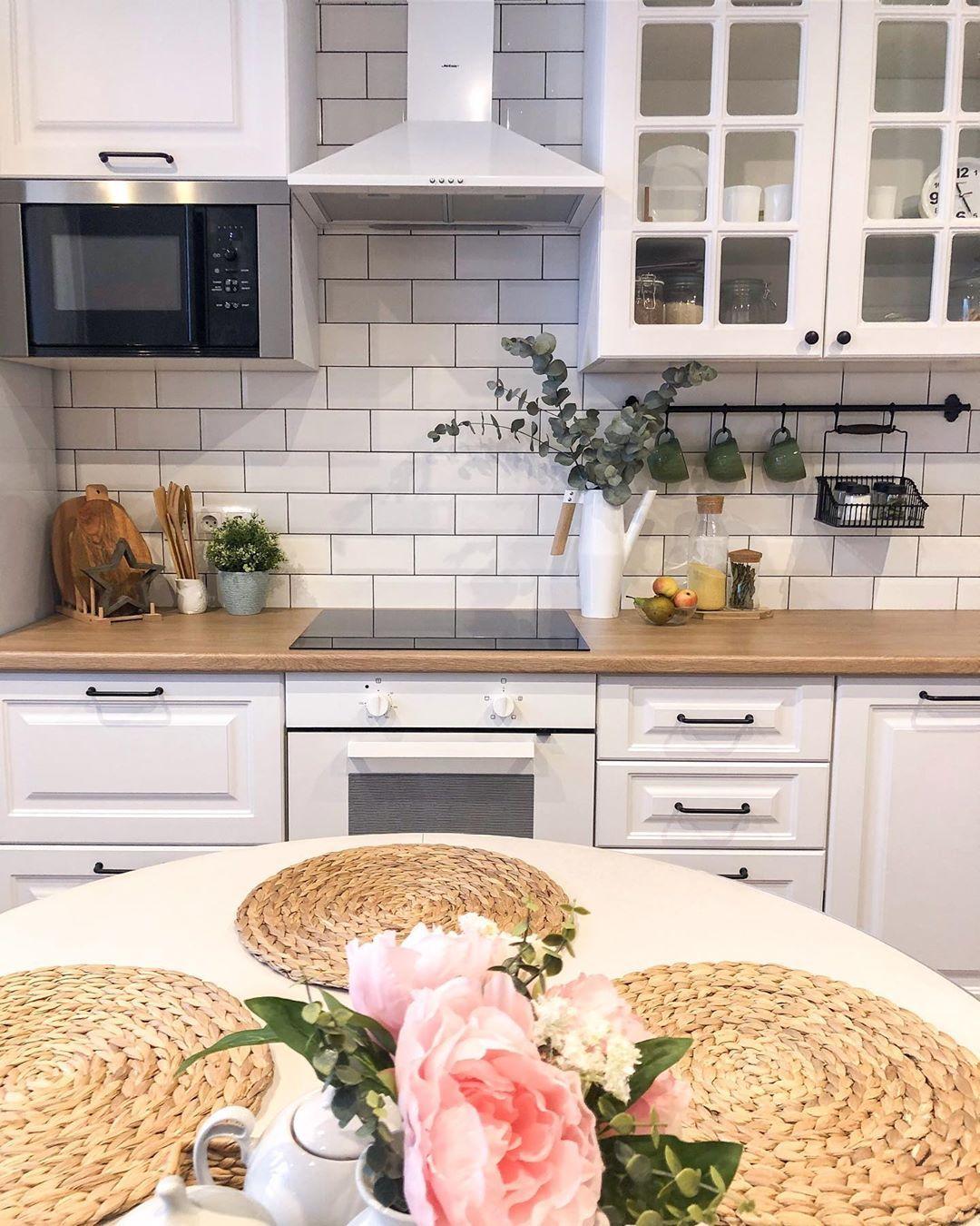 Alina Scandi On Instagram Dobroe Utro In 2020 Scandi Kitchen Kitchen Cabinets