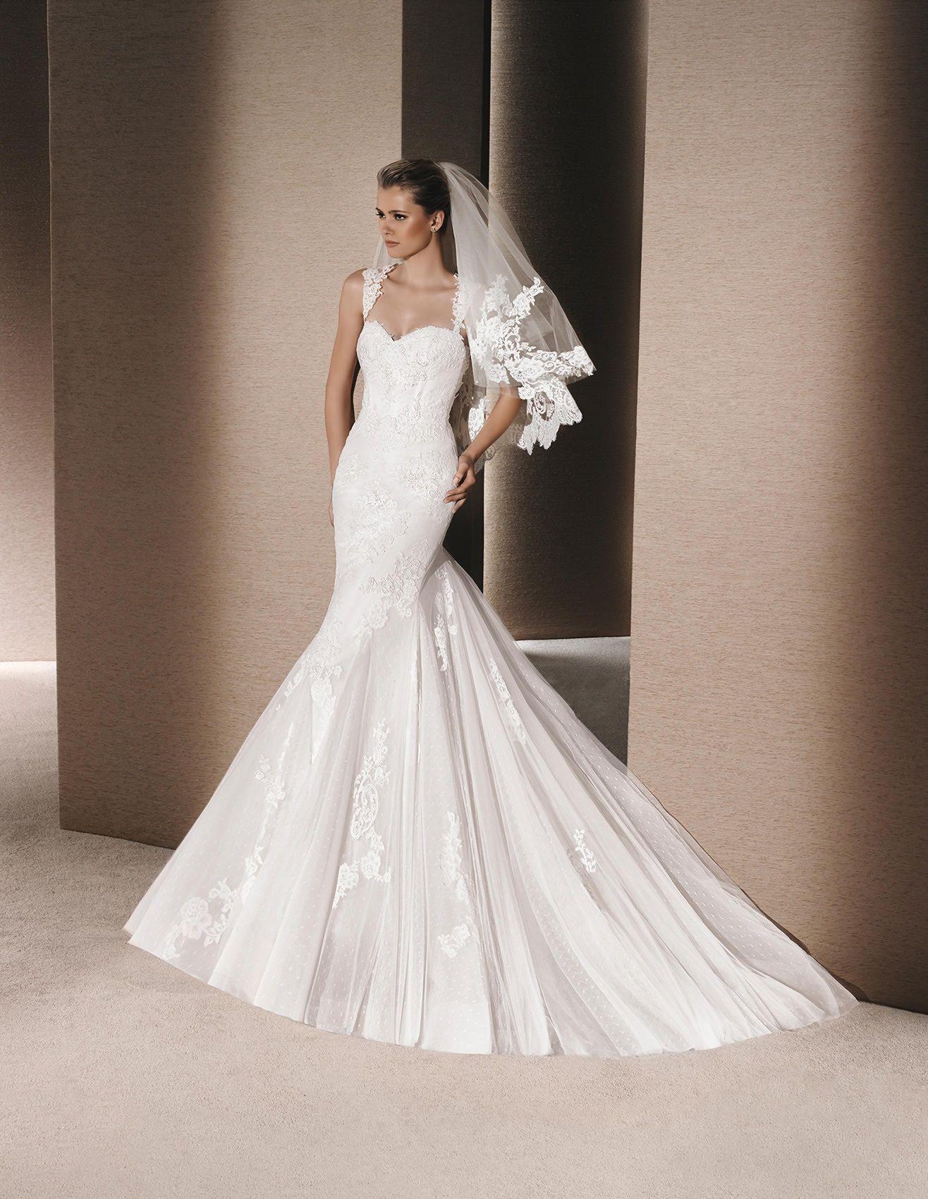 Nice ROSALINDA Mermaid wedding dress with plunging back La Sposa
