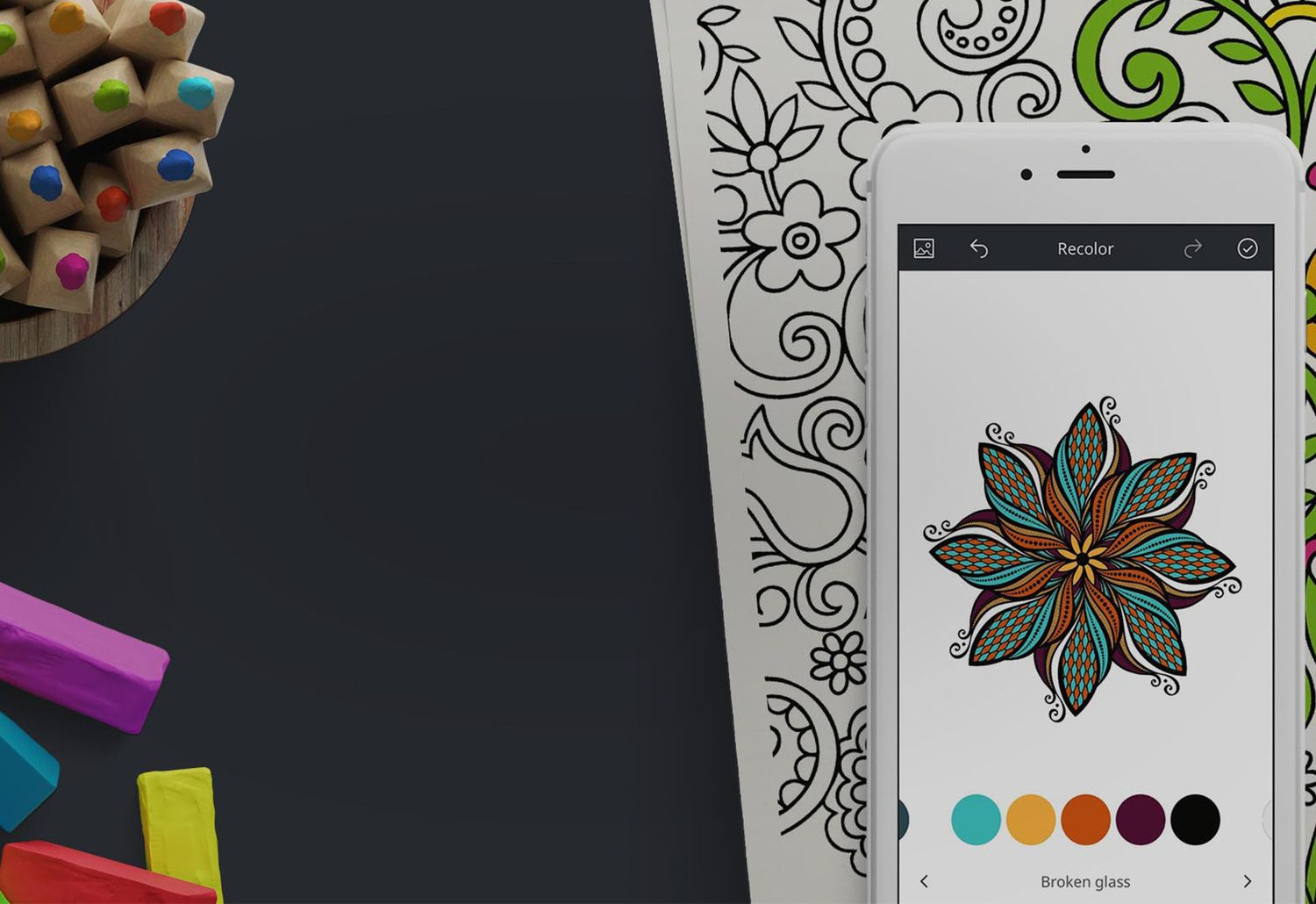 Turn Your Phone Into A Coloring Book With This Free App Coloring Book App Coloring Books Recolor