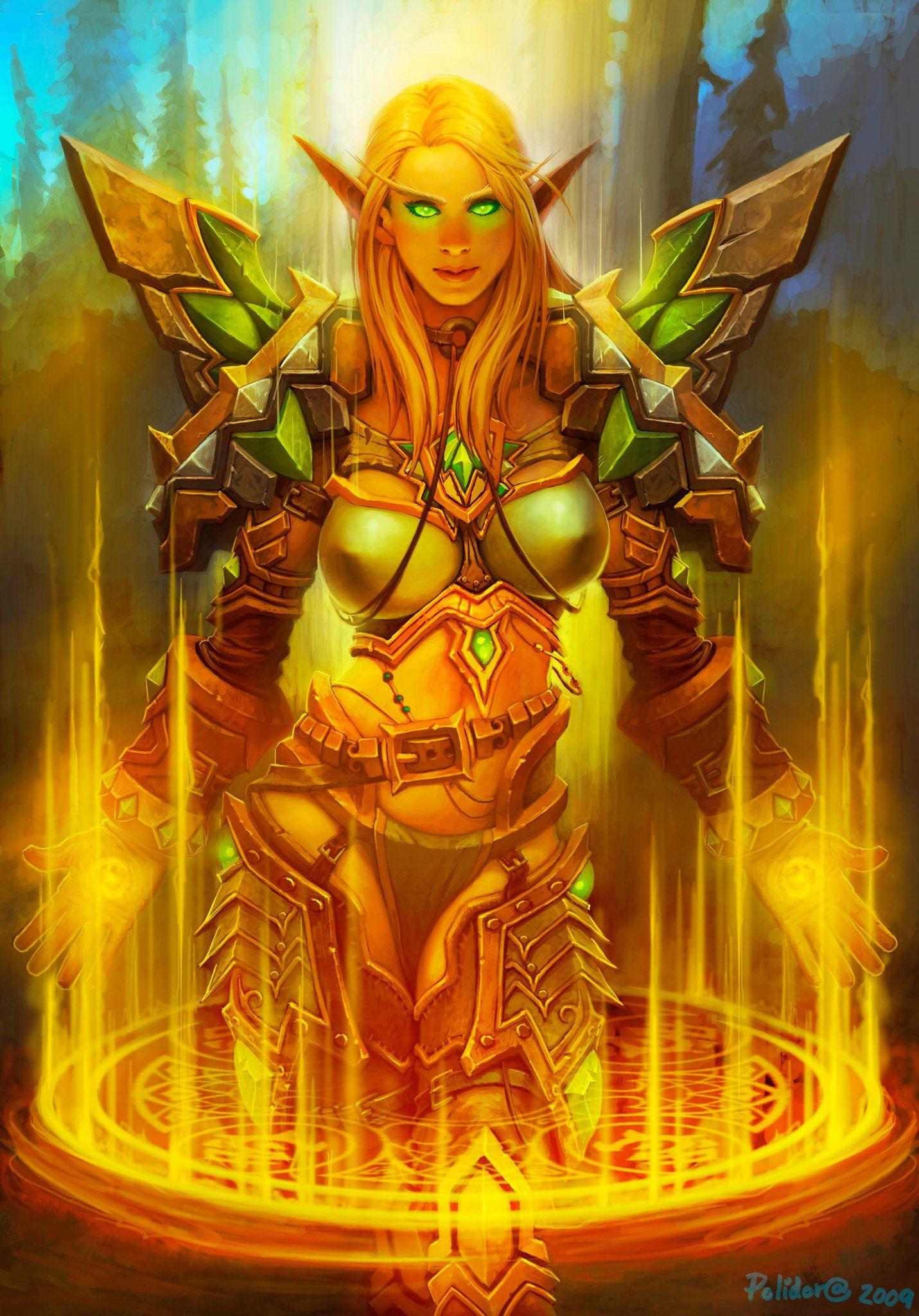Card Name: Silver Hand Regent Artist: John Polidora | World of warcraft, Blood elf, Warcraft art