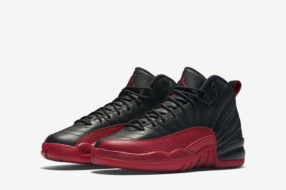 huge sale 3c1b1 e621d Kids Air Jordan 12 Retro Flu Game Black Varsity Red