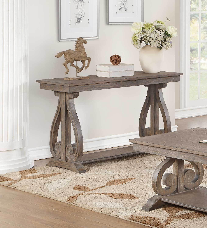 Toulon Classic Acacia Wood Sofa Console Table Wooden Console Wooden Console Table Wood Sofa