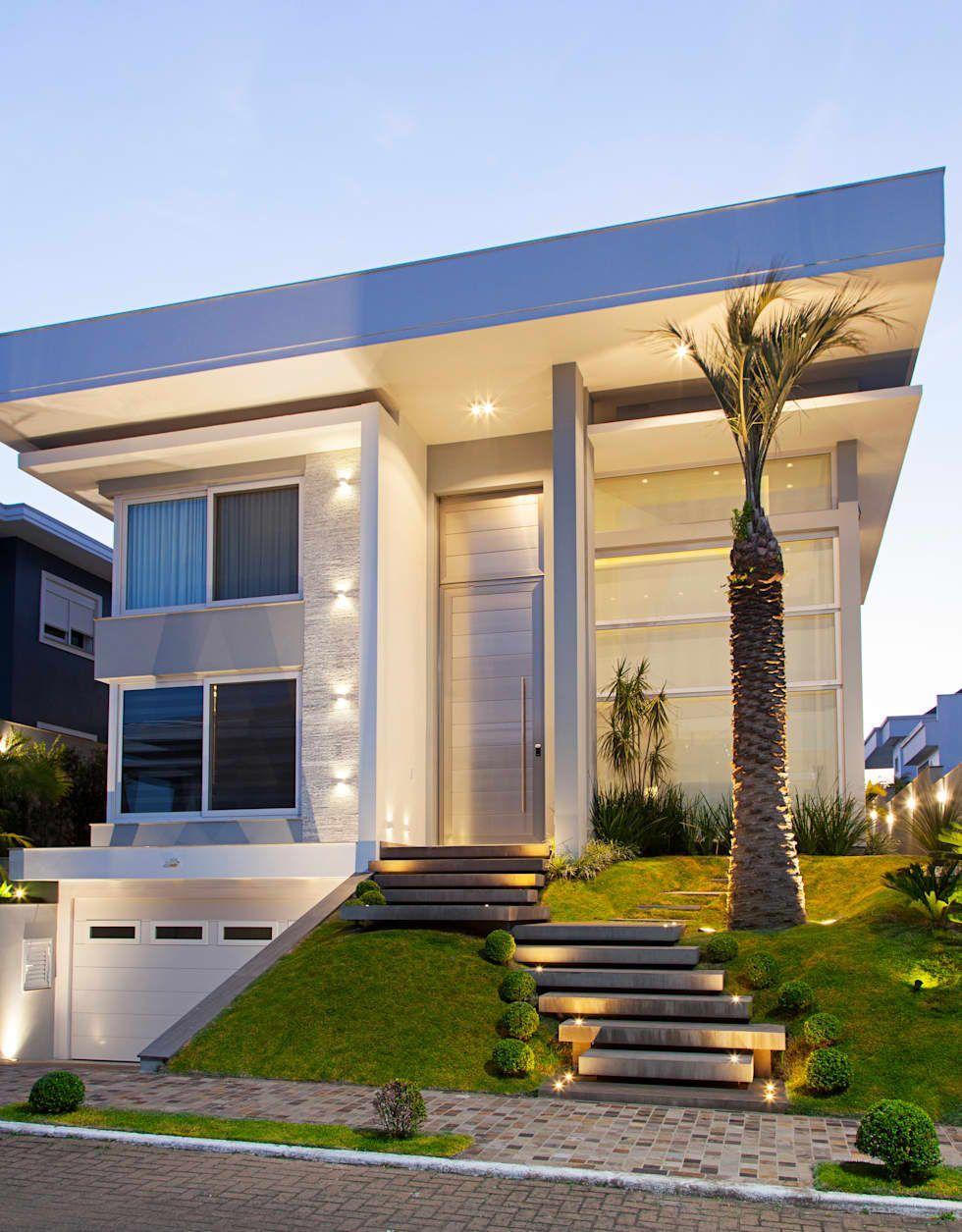 Fachada casas por andr pacheco arquitetura unic rnio for Fachadas de casas ultramodernas
