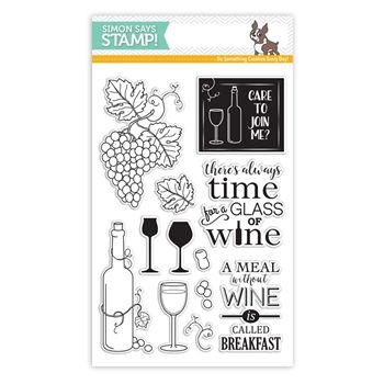 Simon Says Cling Stamps You Matter Background Sss101646 Clear Stamps Time For Wine Simon Says