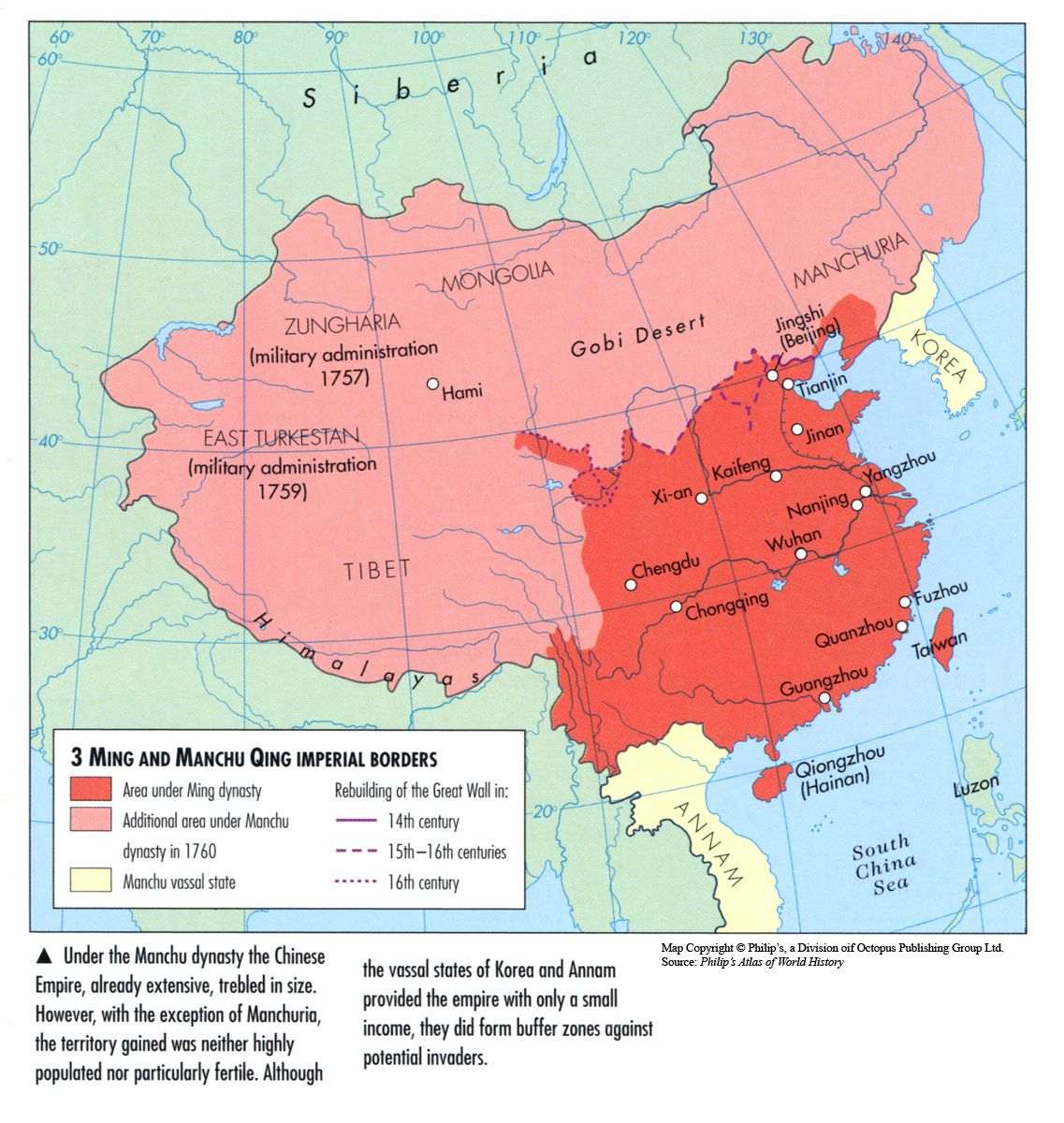 When the Manchu Qing pronounced Ching dynasty took power from the