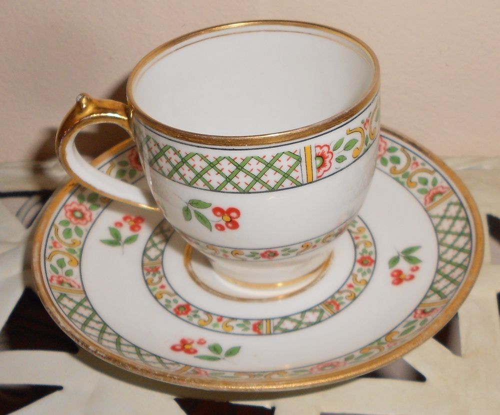 1900 Limoges Demitasse Tea Cup Saucer Set Ch Field Haviland Limoges Gda  France