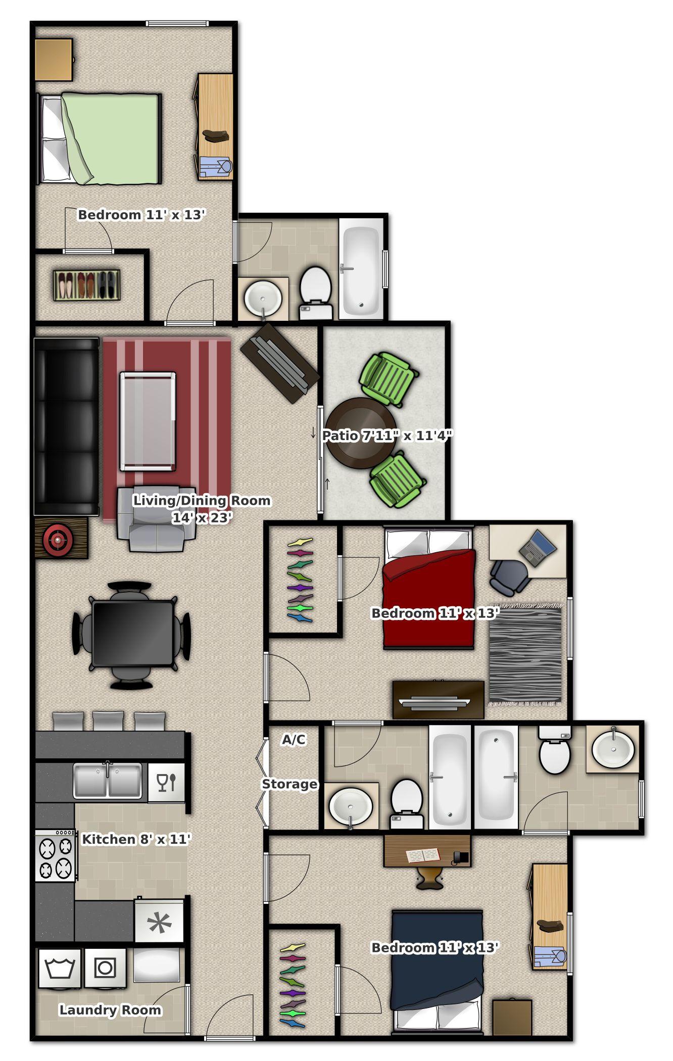 Marvelous 3 Bedroom Apartment At Tivoli Gainesville