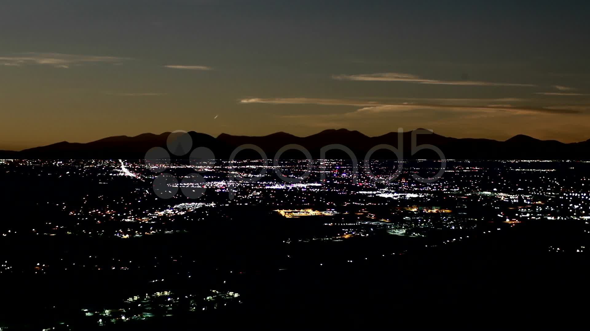 Denver simulated power outage (blackout) Stock Footage