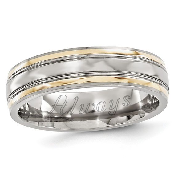 Zales Mens 6.0mm Double Groove Brushed Wedding Band in Sterling Silver YJaWJ