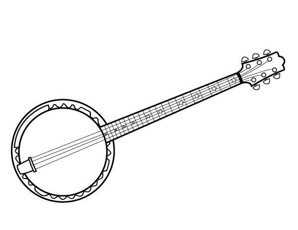 Free Printable Banjo Coloring Page Download It At Https Museprintables Com Download Coloring Page Banjo Coloring Pages Banjo Free Clip Art