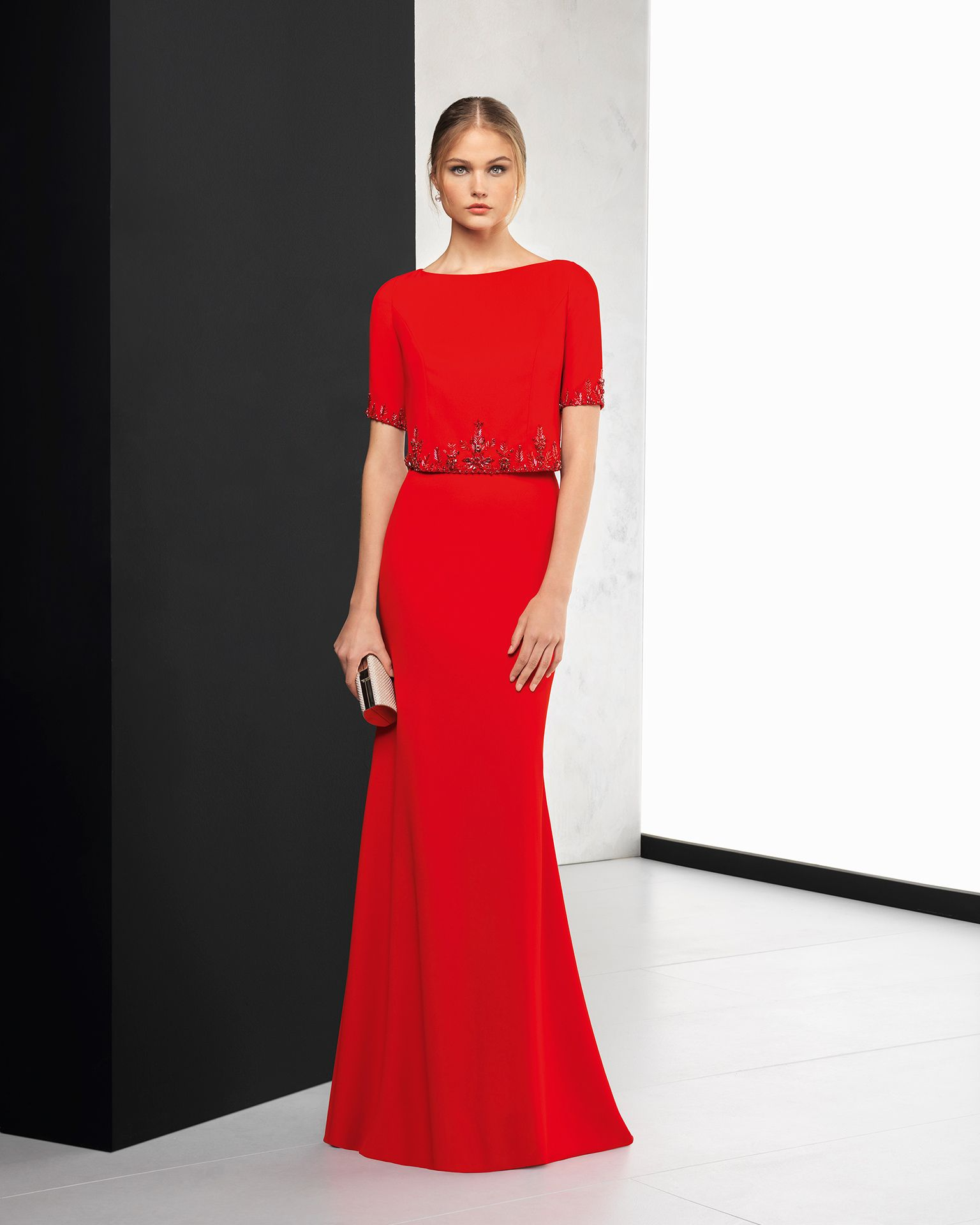 Robe cocktail rouge 2018