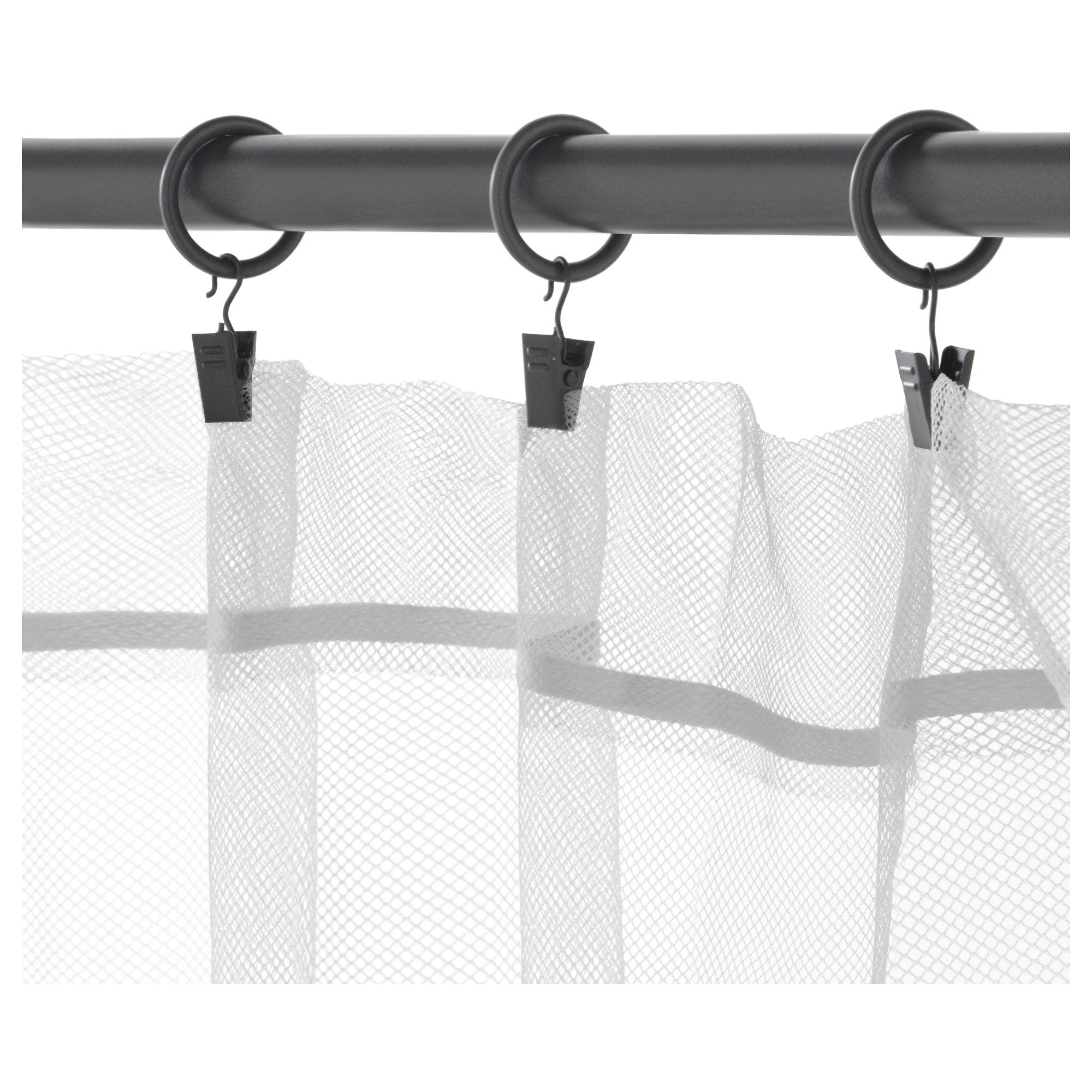 Ikea Syrlig Curtain Ring With Clip And Hook Silver Color Curtains With Rings Curtain Rings With Clips Curtain Clips