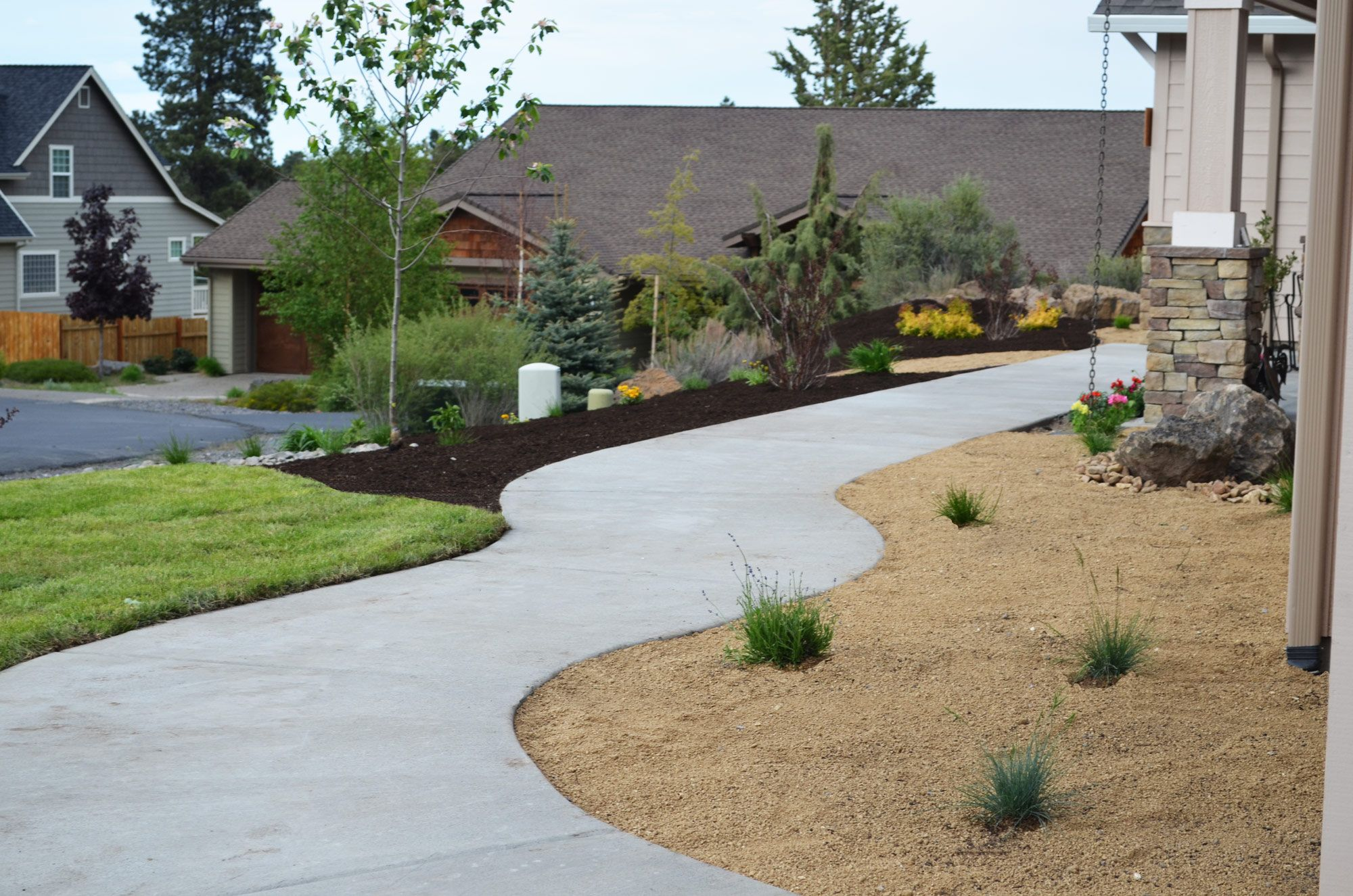 Eastside of bend new construction landscape install for New landscaping ideas