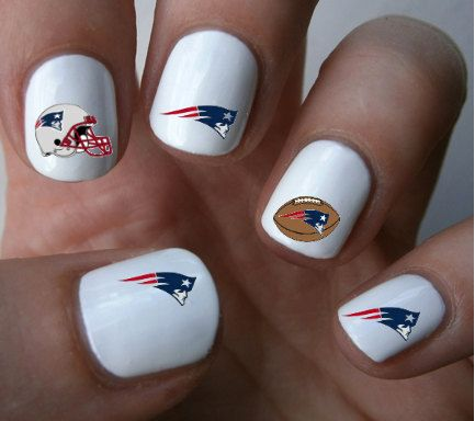 New England Patriots Nfl Nail Art Decals Stickers