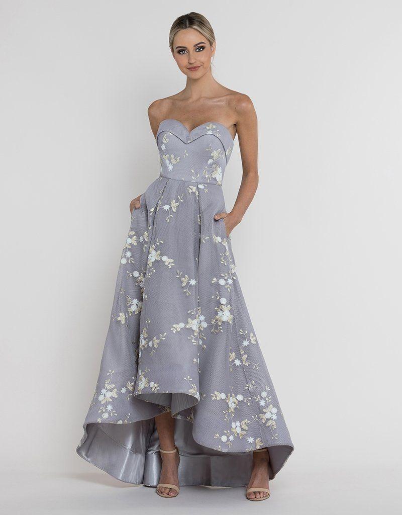 Stunning Strapless Satin Look Dress With Mesh Overlay Lower /& Waist Tie