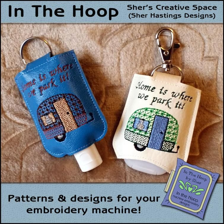Free Embroidery Design Tiny Camper Hand Sanitizer Holder Hand