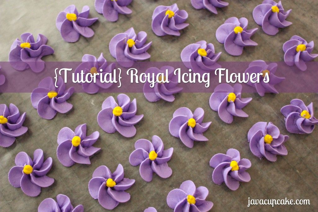 {Tutorial} Royal Icing Flowers from Java Cupcake