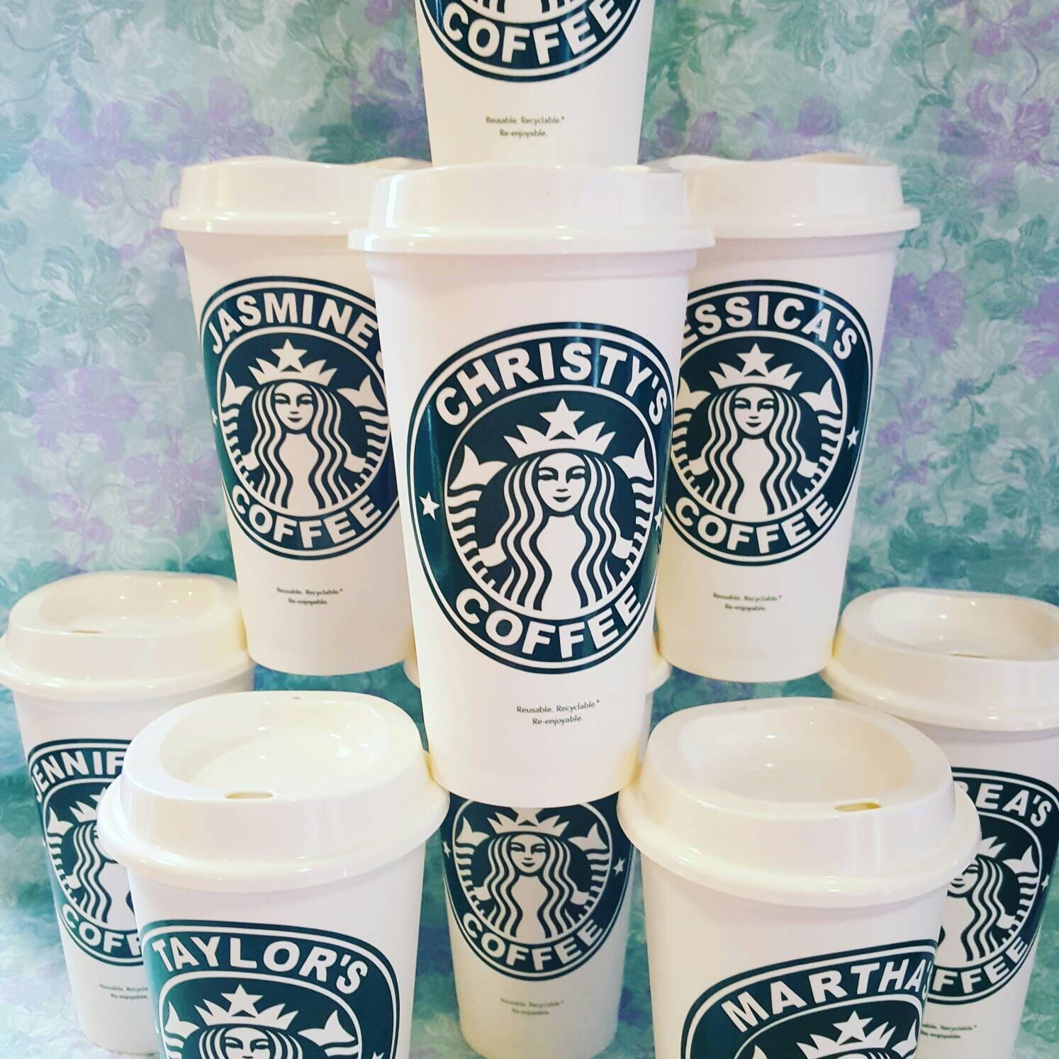 Personalized Starbucks Cups with Lid, Travel Mug, Coffee