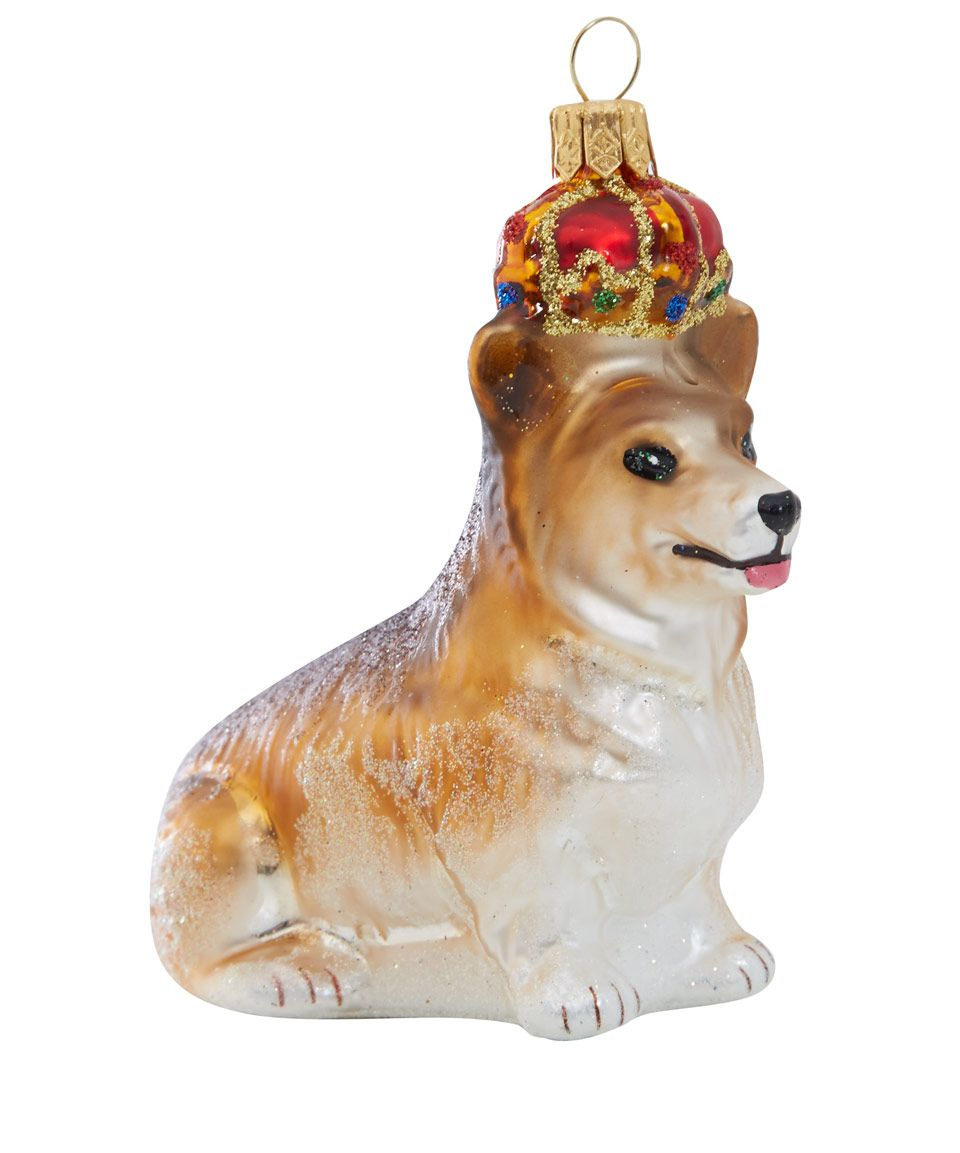royal corgi glass decoration christmas libertycouk - Corgi Christmas Ornaments